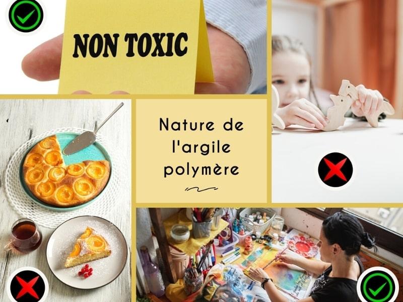L'argile polymère n'est pas toxique, pas un jouet, pas faîte pour être en contact avec les aliments, c'est un médium artistique